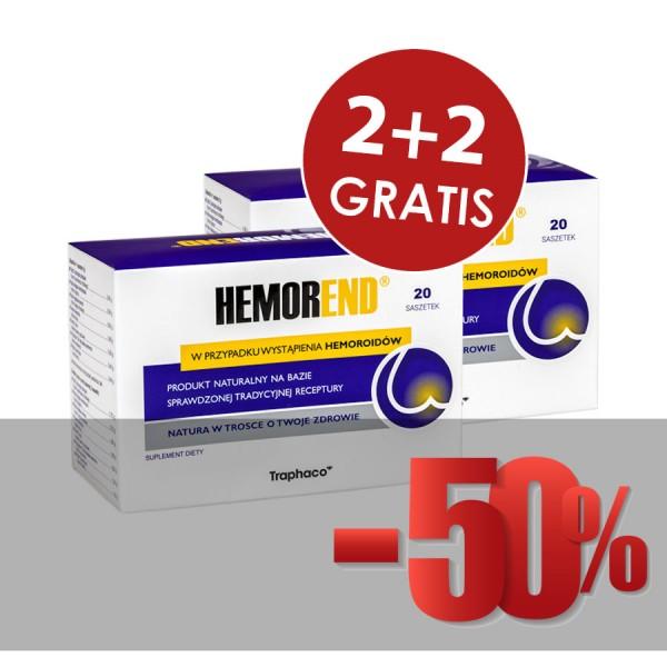 Hemorend® 2 op. + 2 op. Gratis!  PROMOCJA !  KURACJA MIESIĘCZNA !