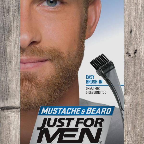JFM Żel do wąsów i brody / jasny brąz M25